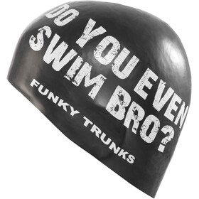Funky Trunks Silicone Swimming Cap Homme, swim bro